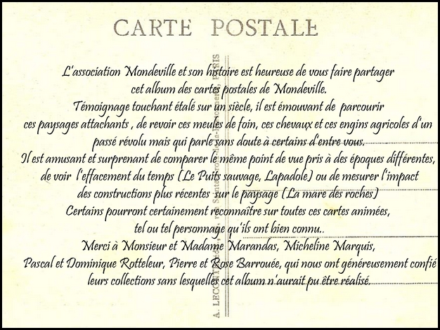 Introduction collection carte postales Mondeville